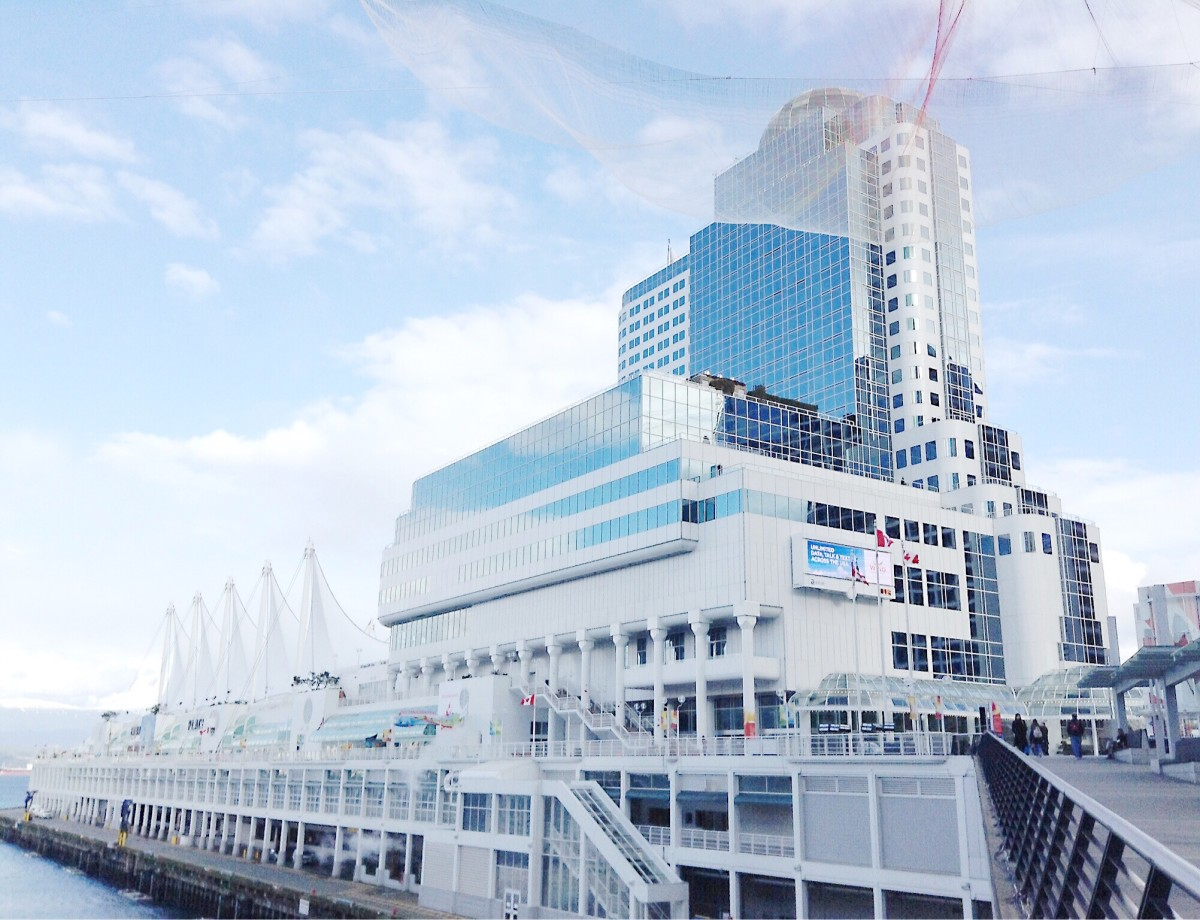 Another view of Canada Place and the pier