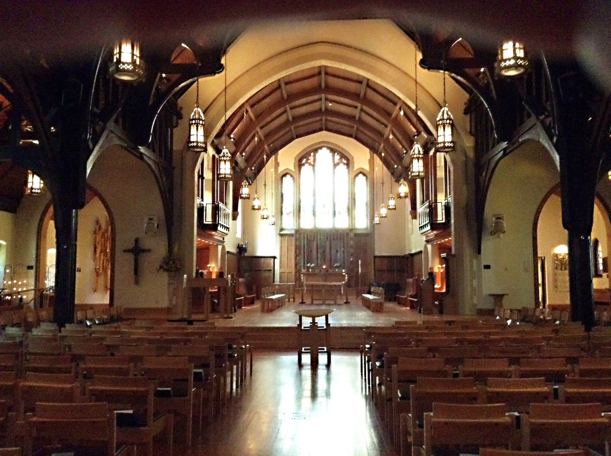 An interior view