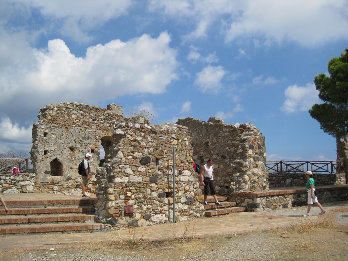 The remains of the Castle.