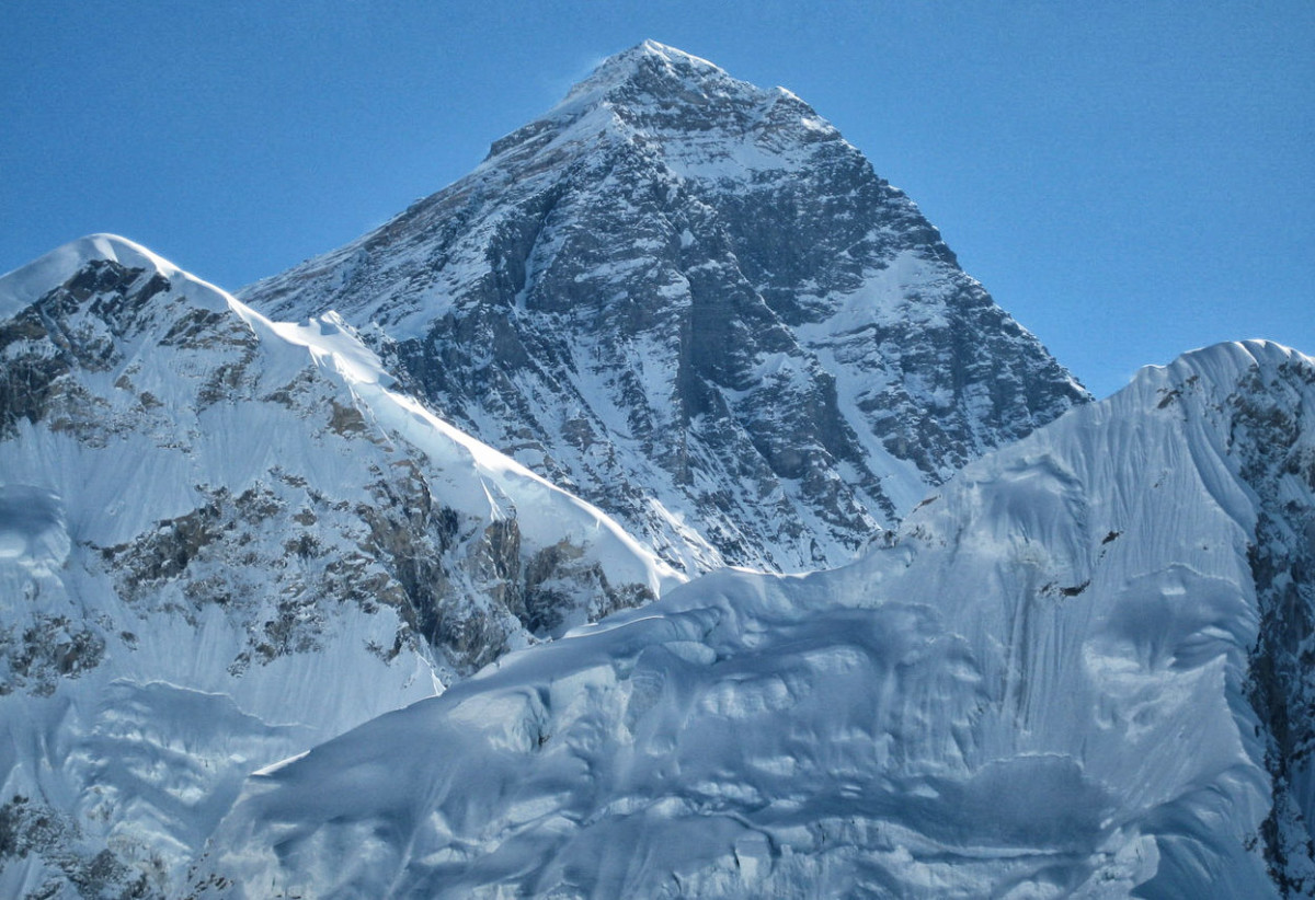 Mount Everest (photo taken during a mountain flight).