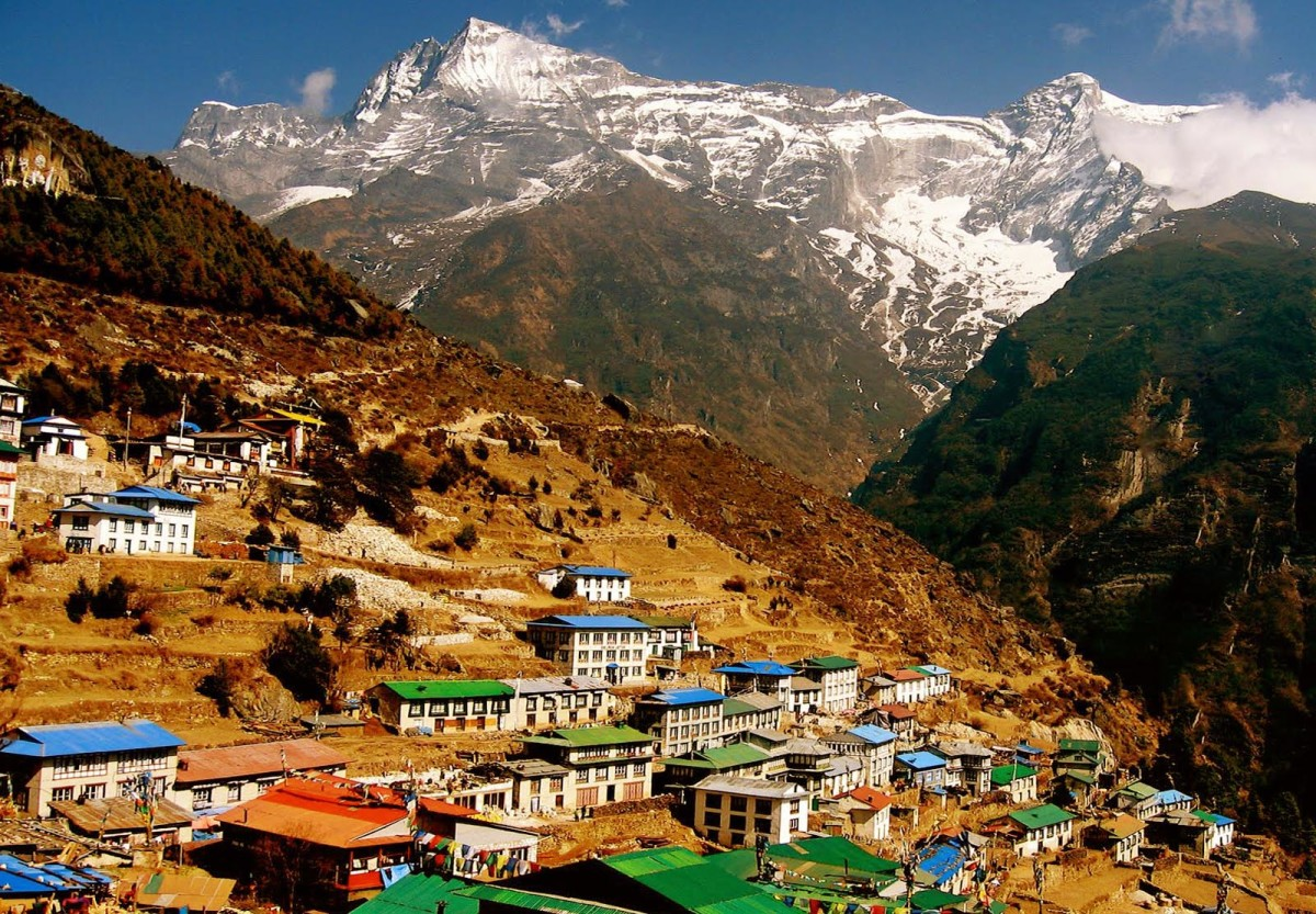 Namche Bazaar is a small town on the foothill of Everest