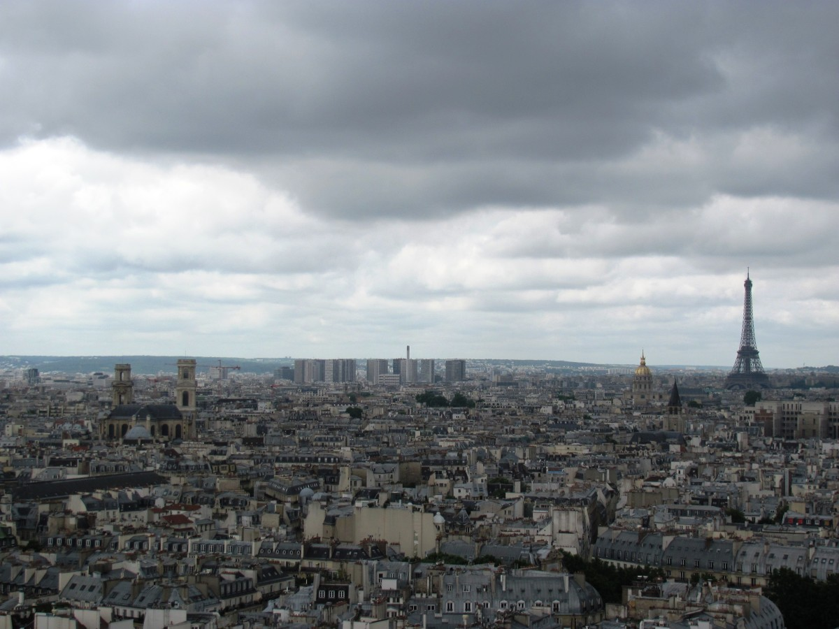 What a splendid view of the Eiffel Tower and the city below.  Worth the climb!