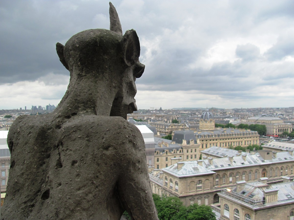 Don't cross the evil Goat Gargoyle.  He looks down over his territory.