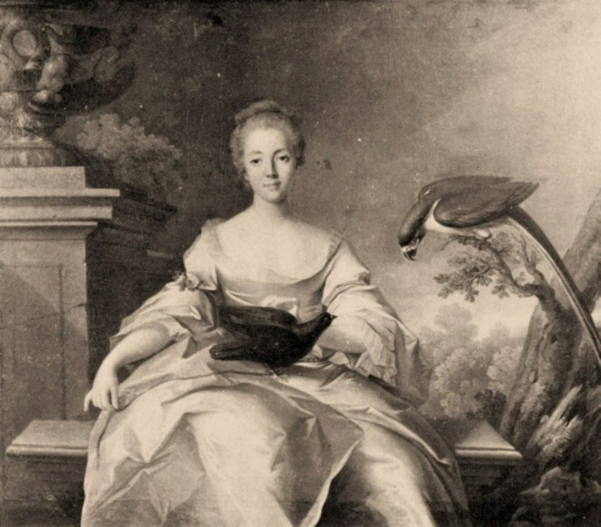 Portrait of Louise Dupin (1730), who as a much older lady saved Chenonceau from demise.