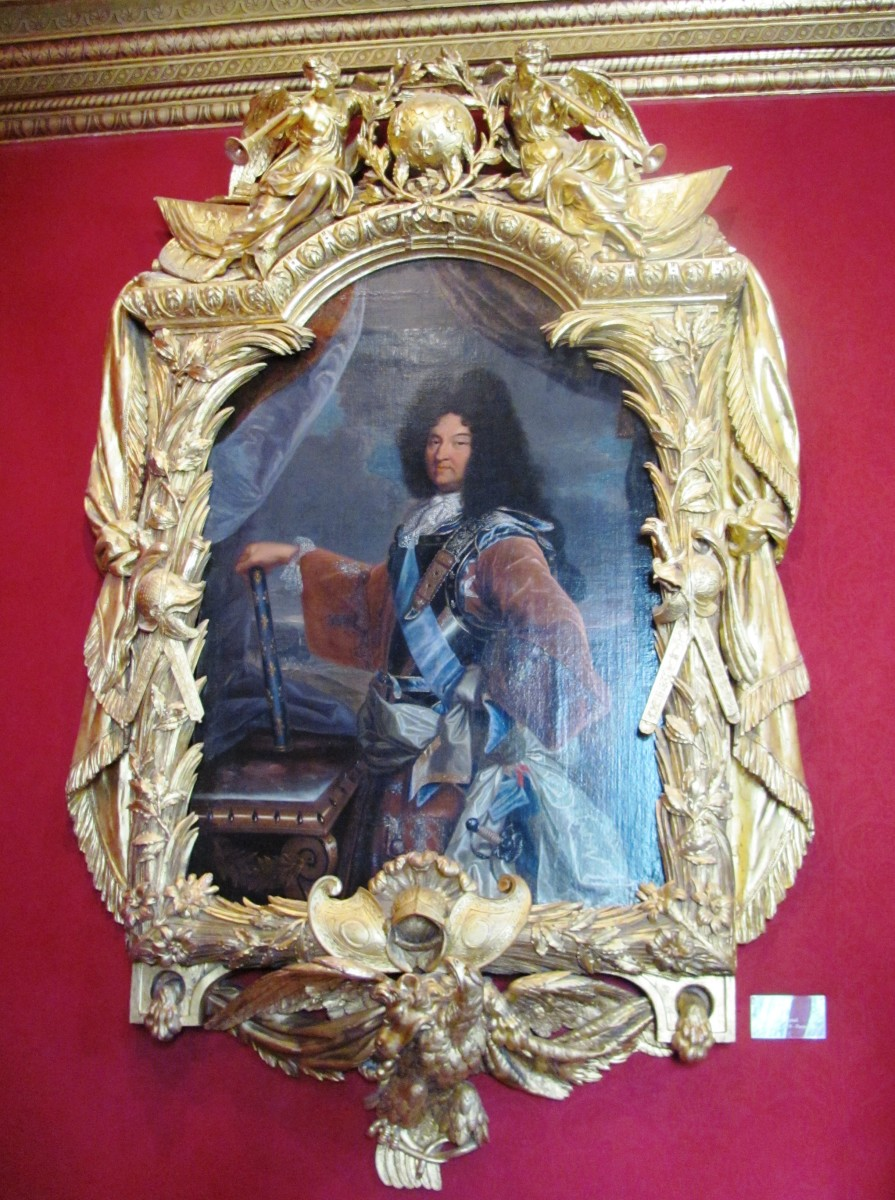 To commemorate his visit to Chenonceau in 1650, Louis XIV gave his uncle this portrait of himself in an exquisite wooden frame.