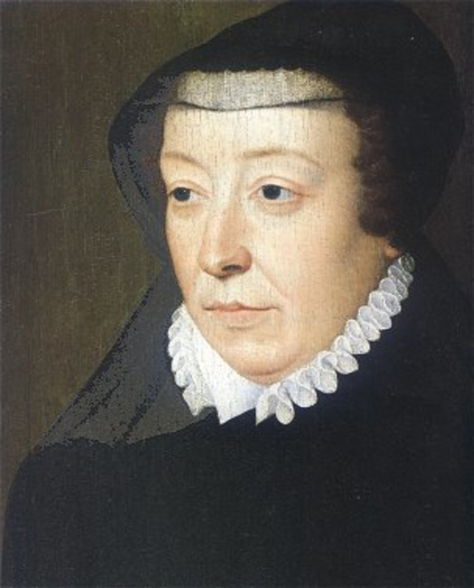 Portrait of Catherine de' Medici (1519-1589) by François Clouet.