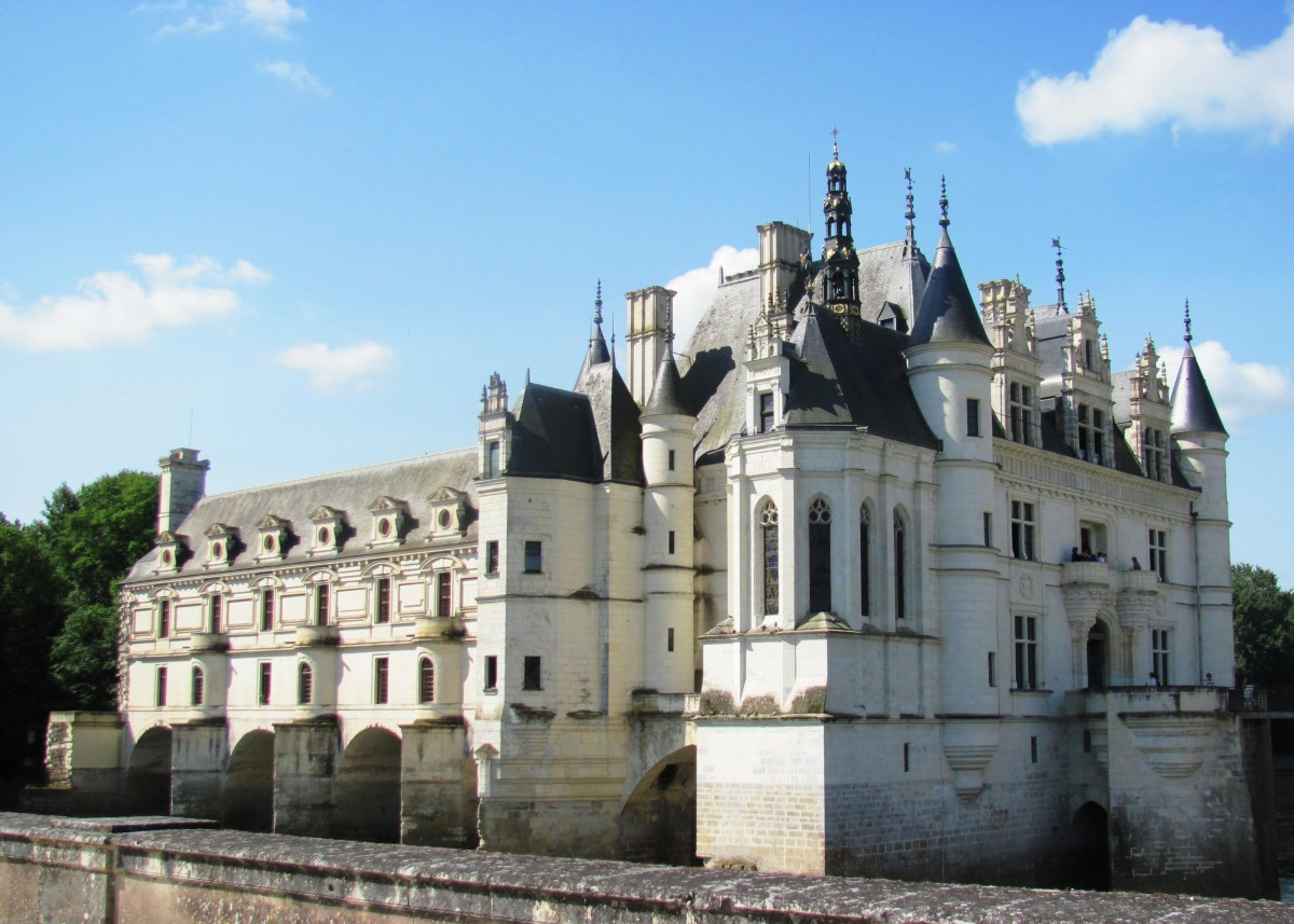 Chateau de Chenonceau was built on the site of an old mill on the Cher River in the 1500s.