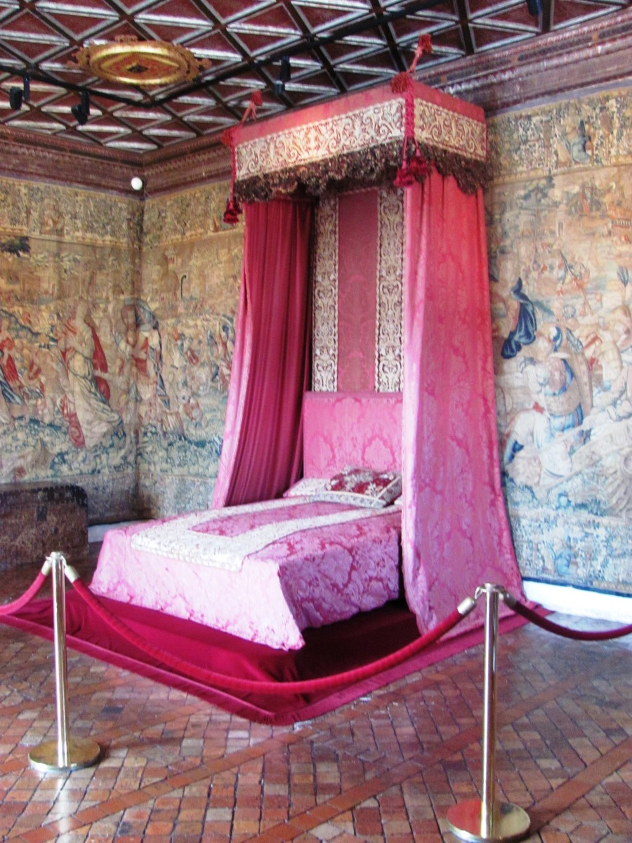 The Five Queens' Bedroom is named in memory of Catherine d' Medici's two  daughters and three daughters-in-law -- one of who was Mary Stuart, Mary Queen of Scots.