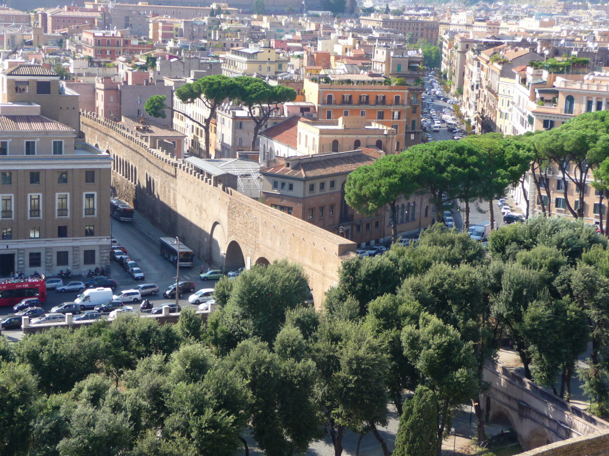 Passetto di Borgo—the passage way from Castel Sant'Angelo to the Vatican.