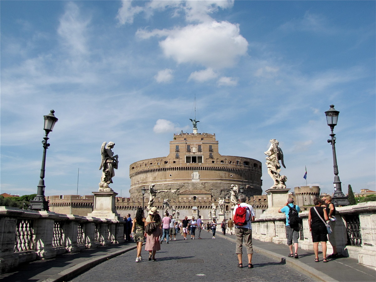 Castel Sant'Angelo from the Ponte S' Angelo