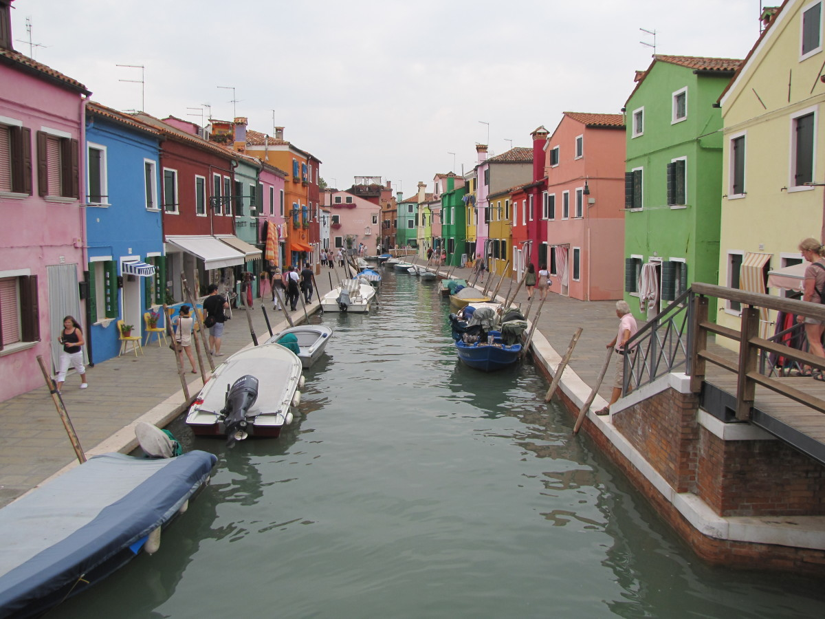 Colorful Homes Line a Canal in Burano