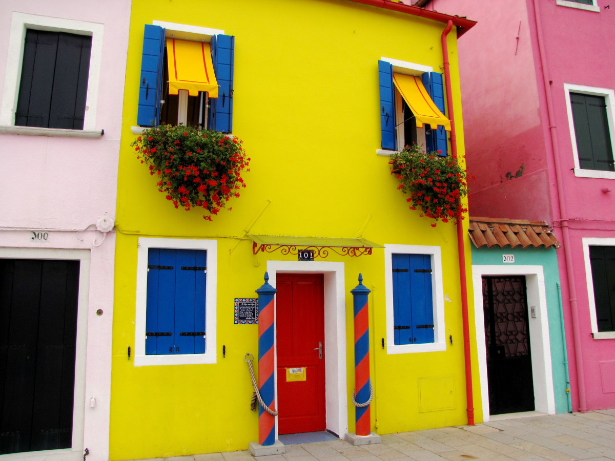Brightly Colored House