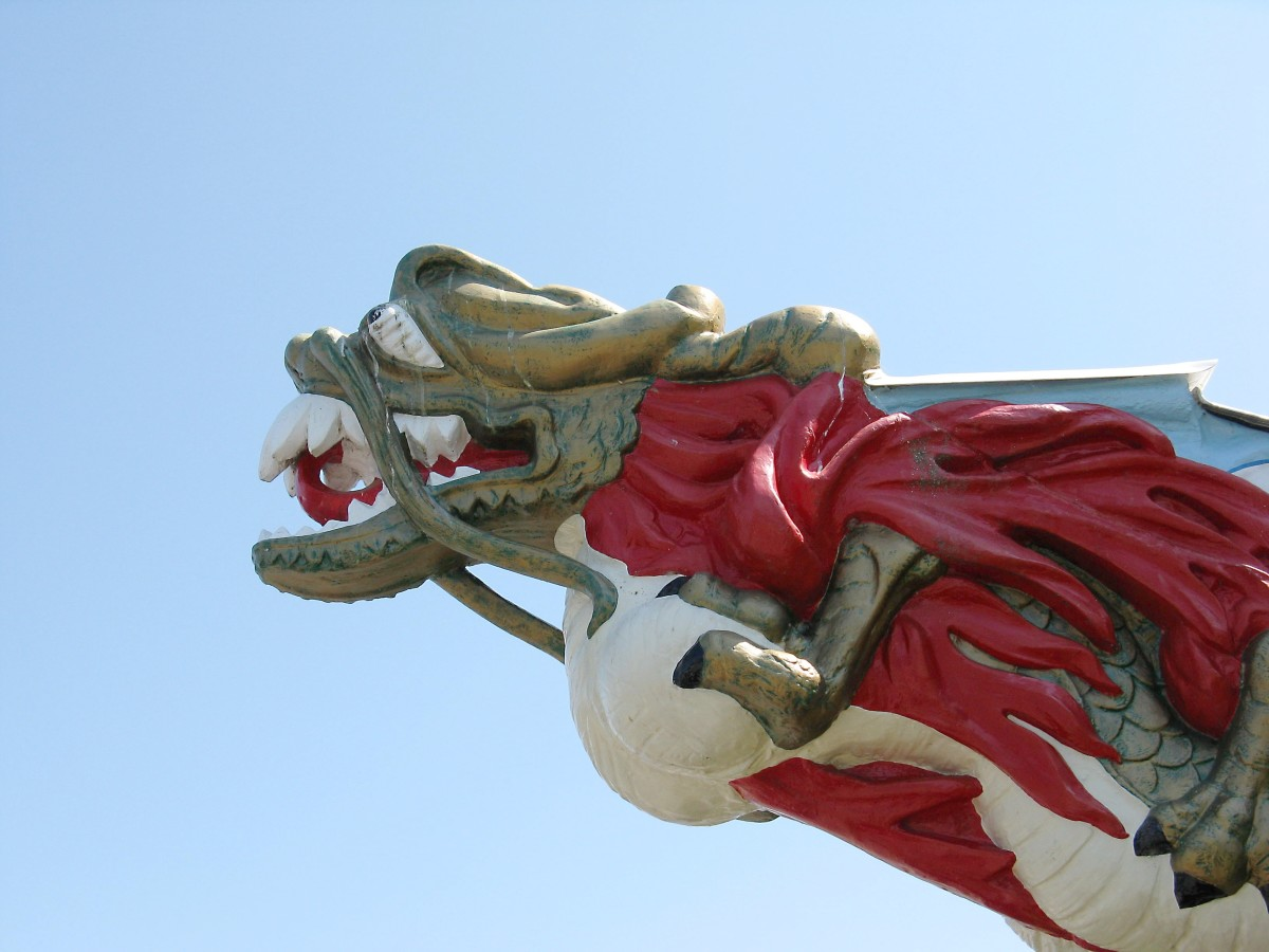 A replica of the S.S. Empress of Japan figurehead. The ship was active in Burrard Inlet  between 1891 and 1922 and transported local goods to Japan.