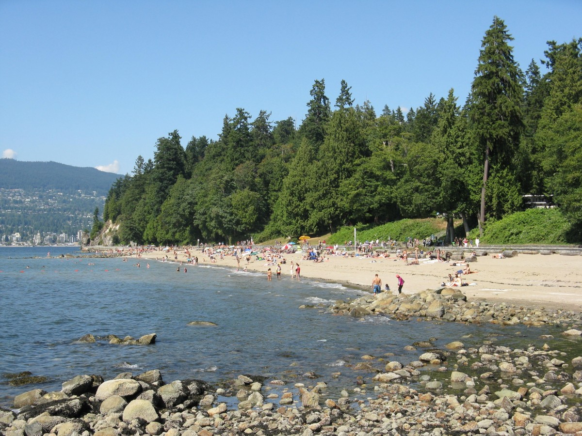 Third Beach and its backdrop