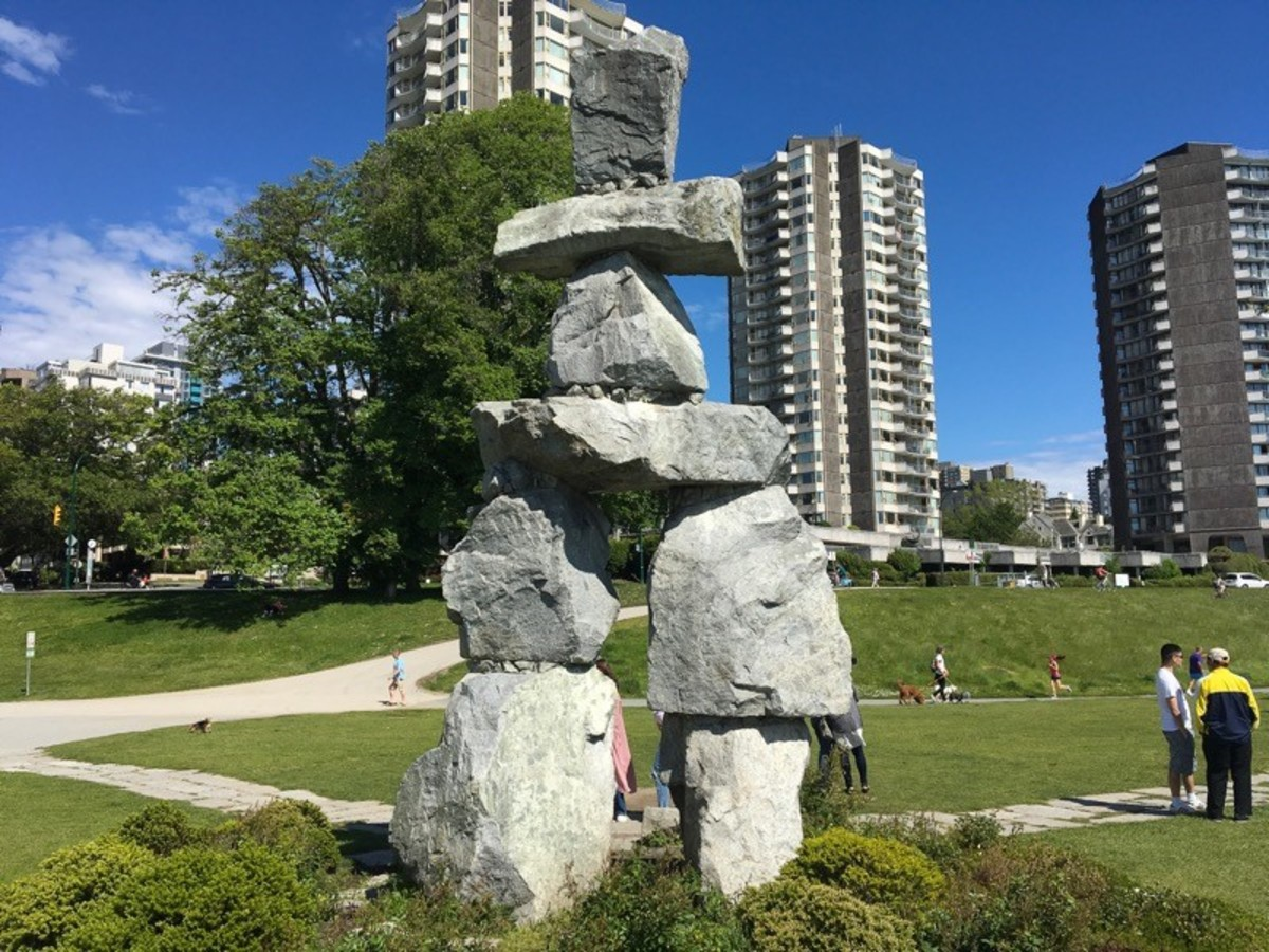 An inukshuk at English Bay