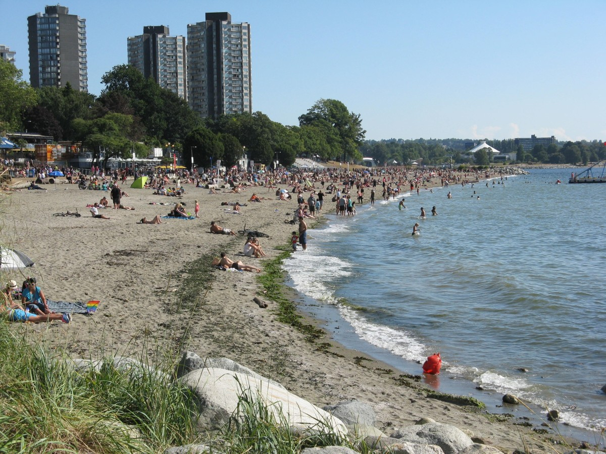 Another view of English Bay Beach