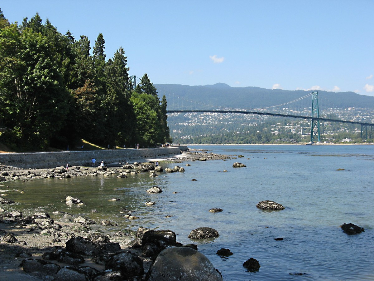 Lions Gate Bridge is in the background.
