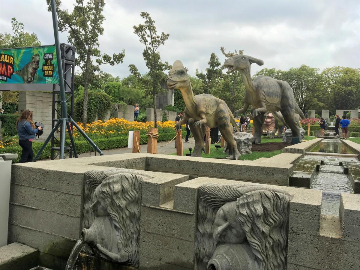 Dinosaurs in the Italian Gardens