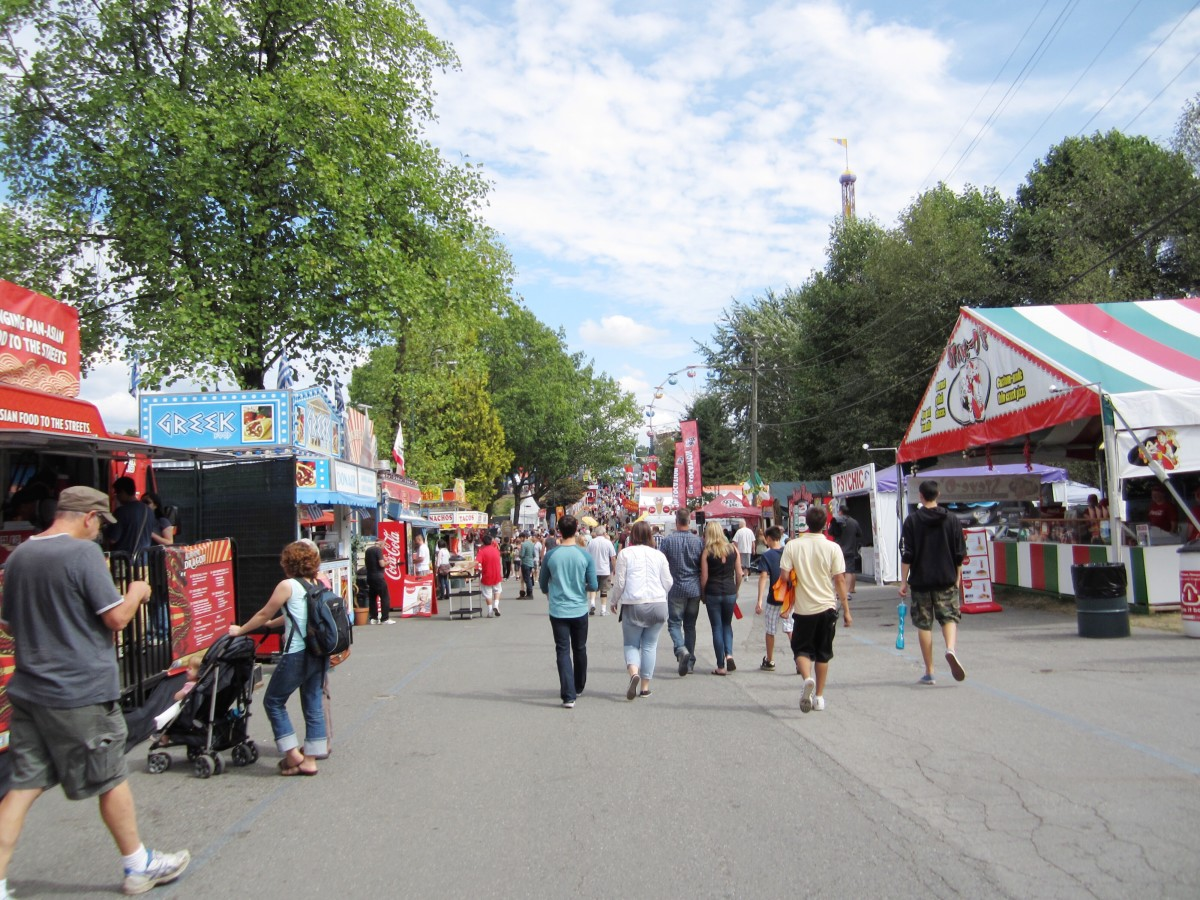 A main road at the PNE fair