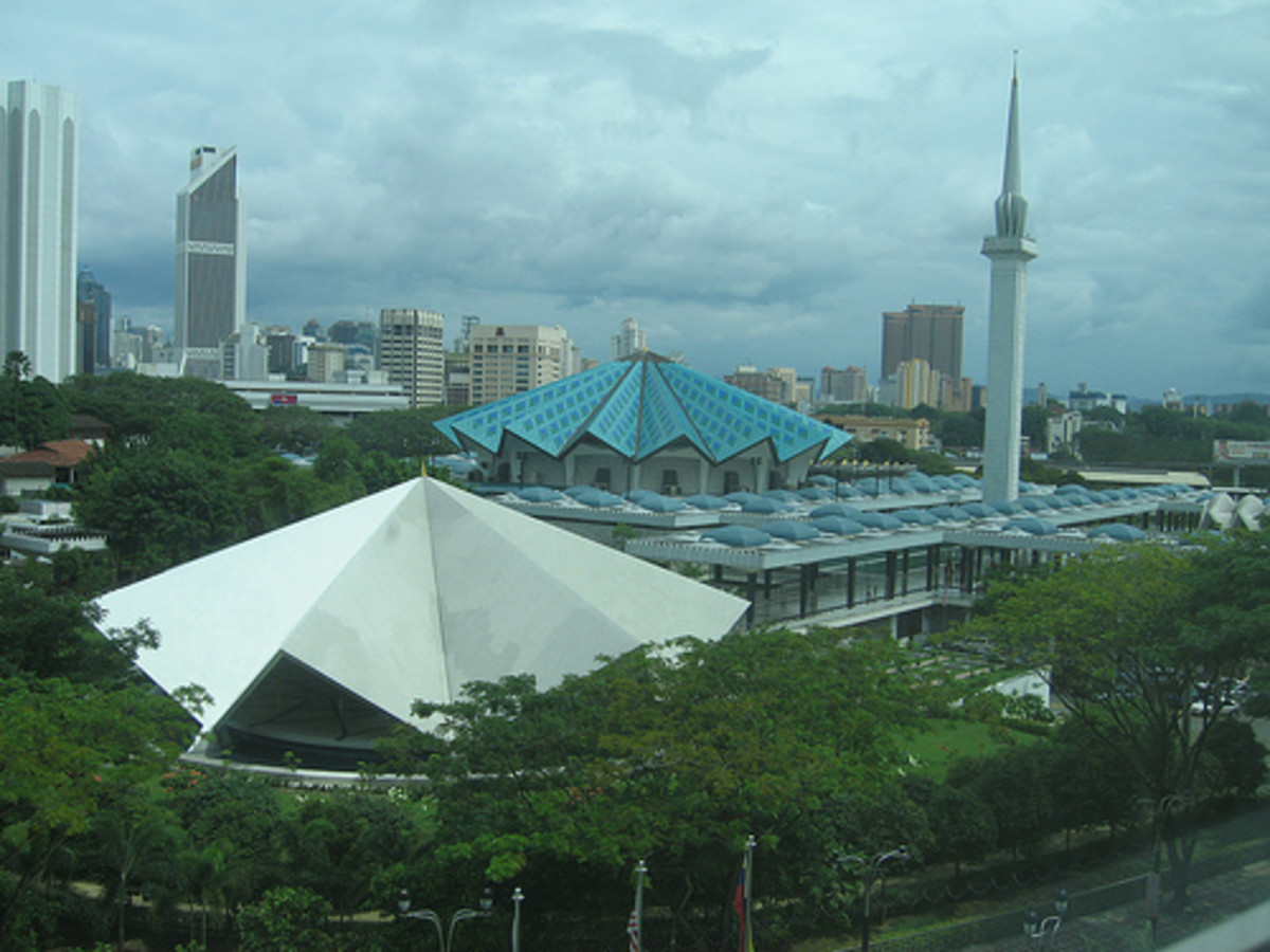 National Mosque in Kuala Lumpur - an iconic symbol of Malaysia's independence