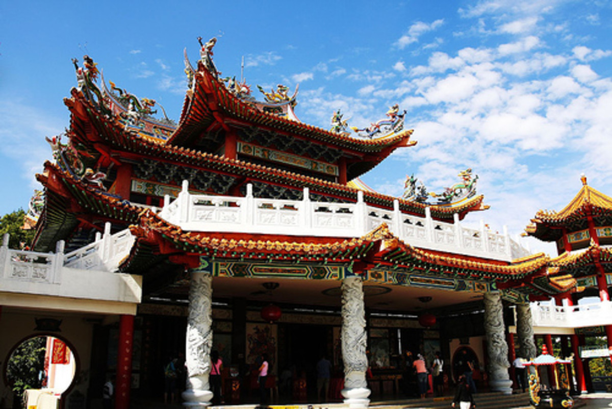 Thean Hou Temple, Kuala Lumpur. One of the largest Chinese Buddhist temples in Southeast Asia