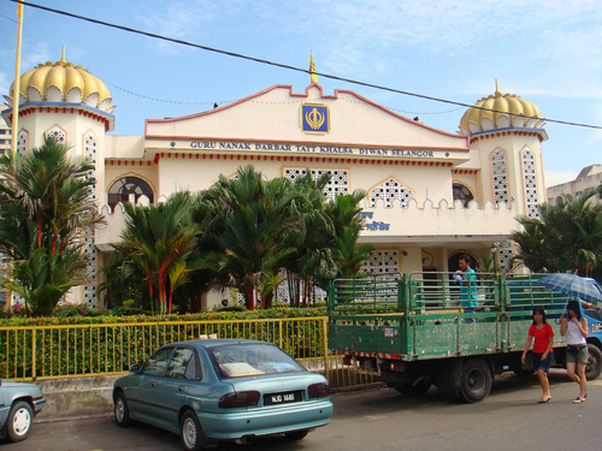 Gurdwara Tatt Khalsa Temple in Kuala Lumpur, one of the largest Sikh temples in Southeast Asia