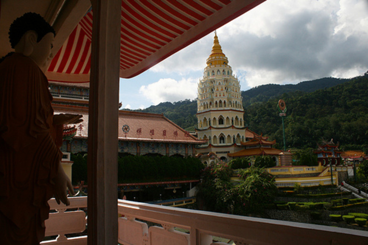 Part of the temple complex of the Kek Lok Si Temple in Penang