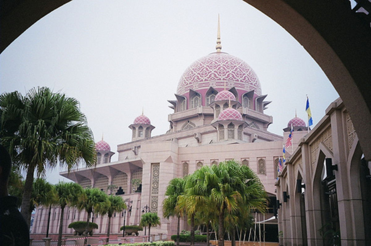 Putra Mosque in Malaysia's administrative capital of Putrajaya
