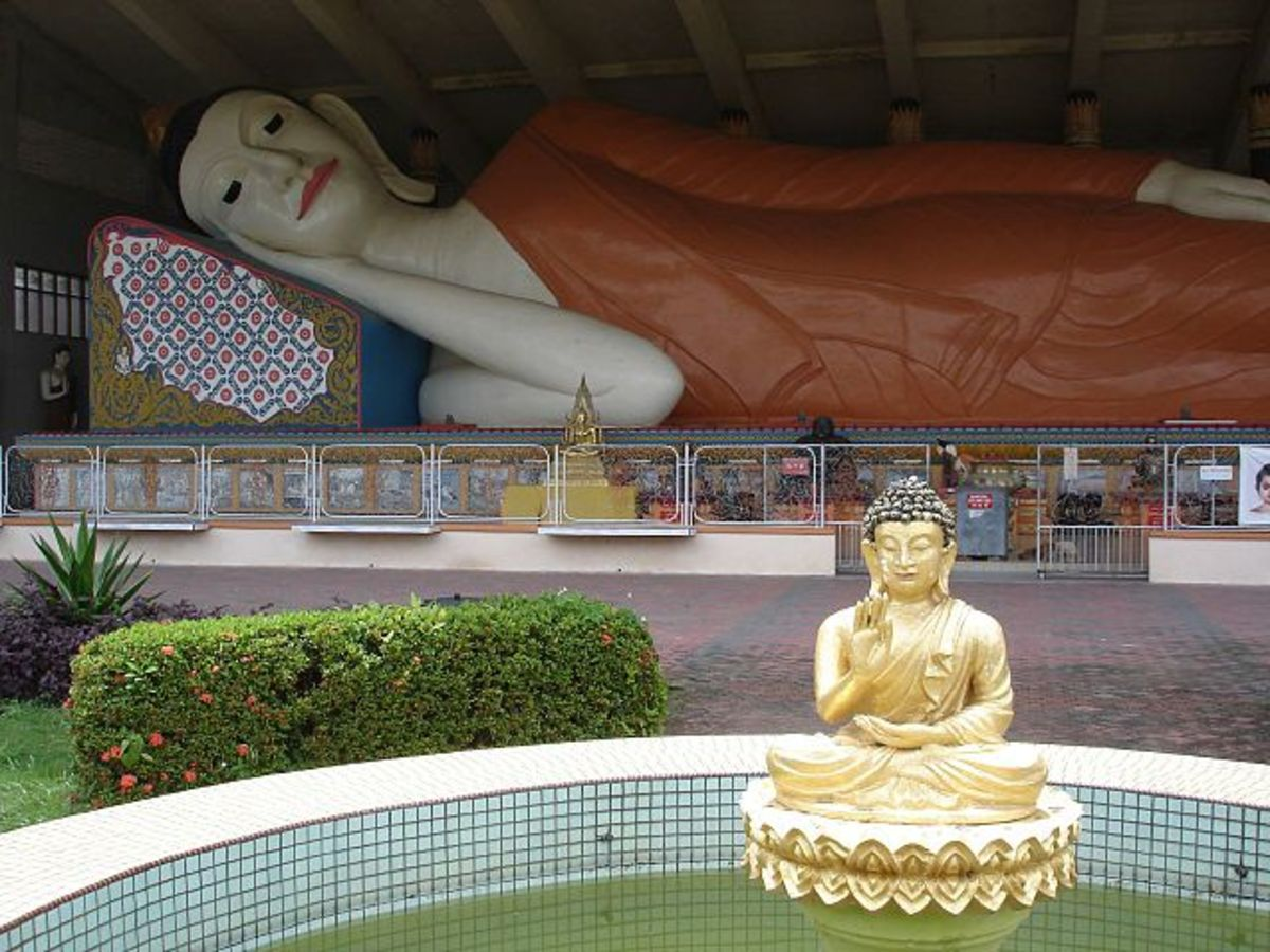 One of the largest Reclining Buddha statues in Southeast Asia, in Wat Phothivihan, Kelantan