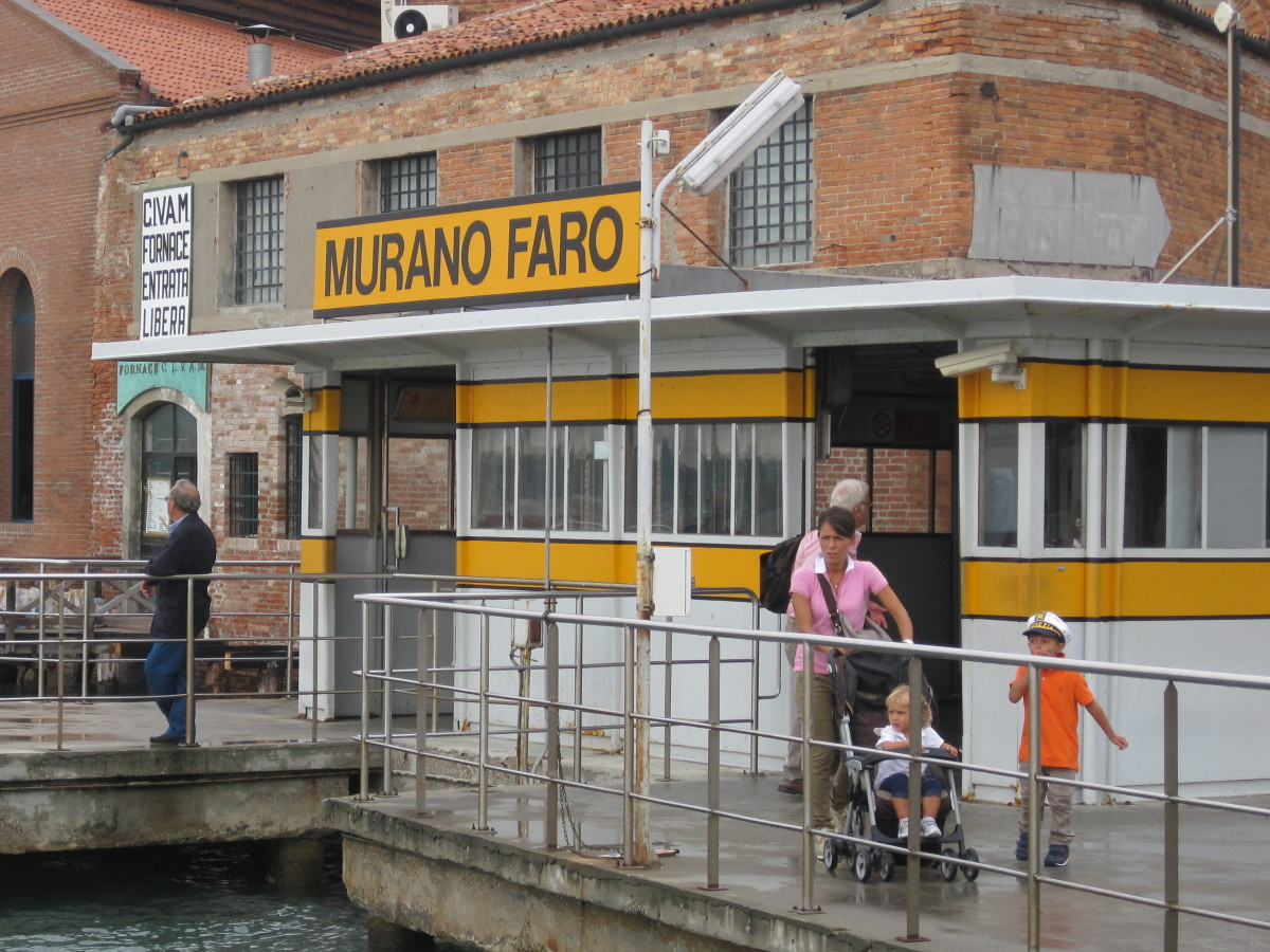 Murano Vaporetto Station.