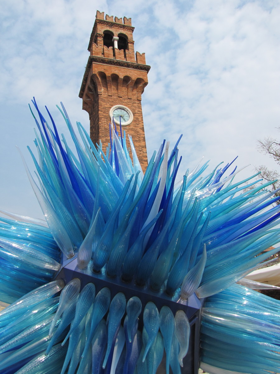 Murano Glass with Clock Tower.