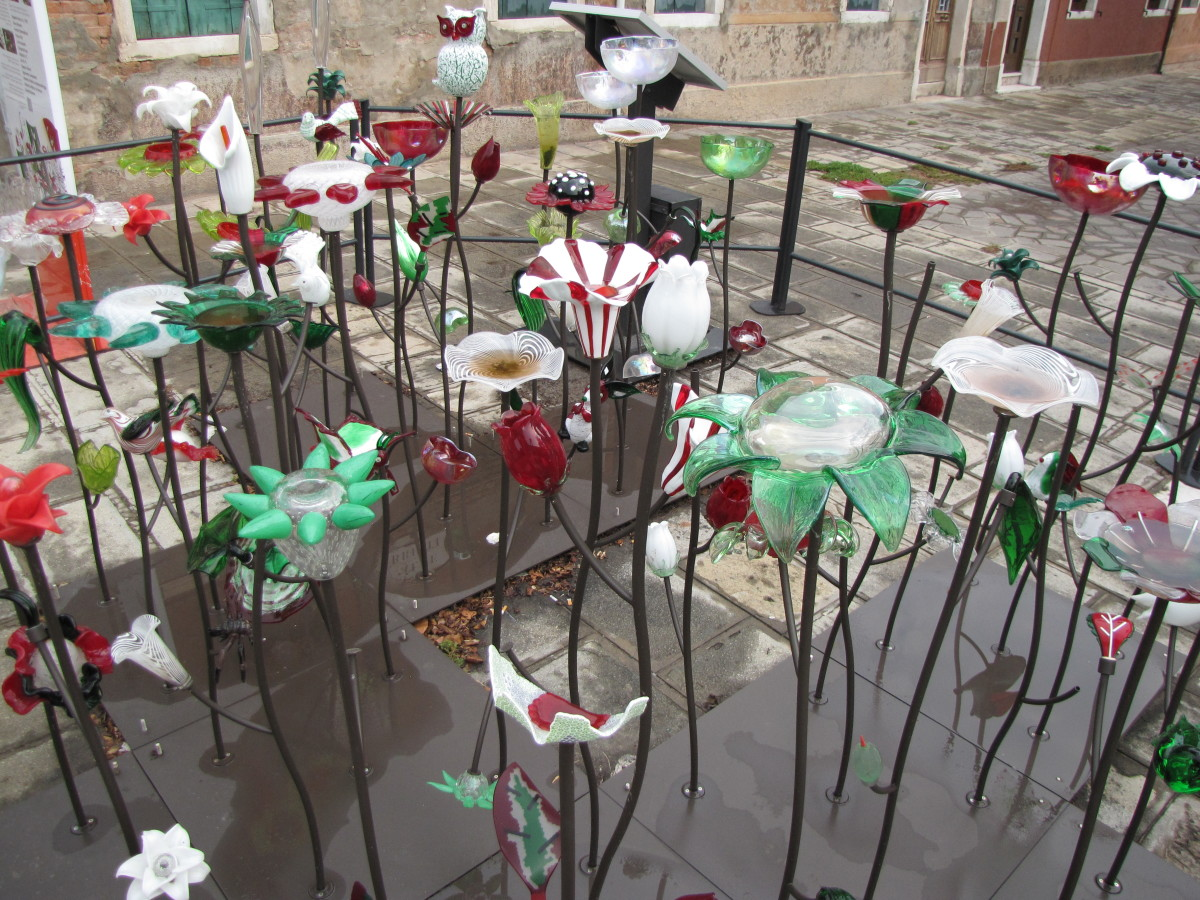 Murano Glass Display.
