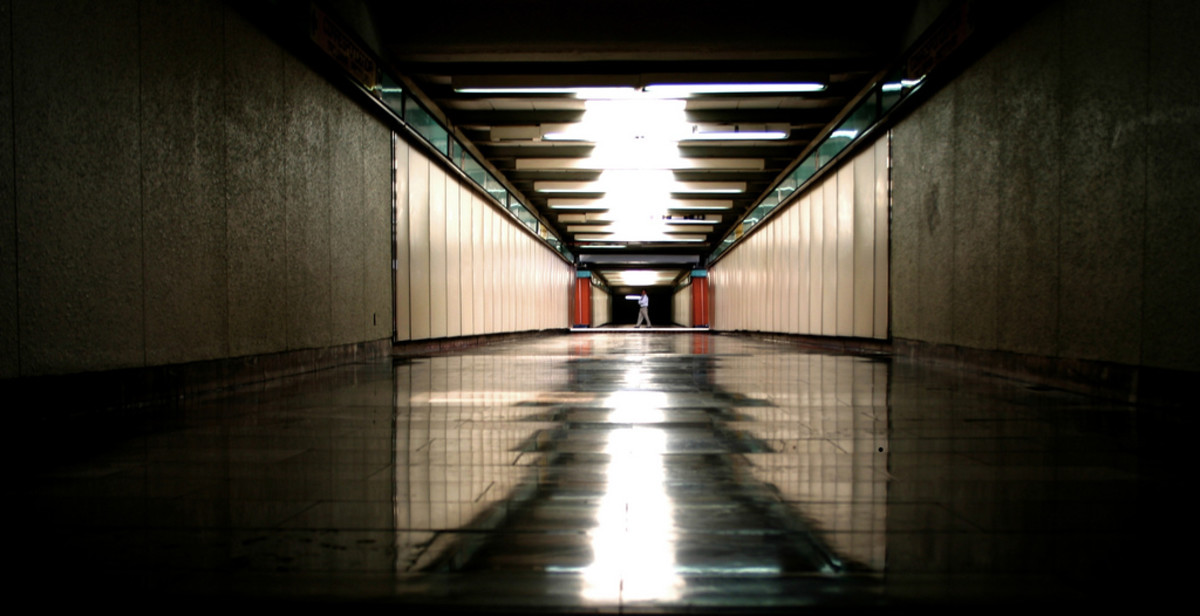 Long Subway Corridor