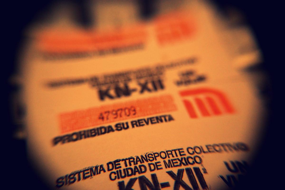 Subway Ticket in Mexico City