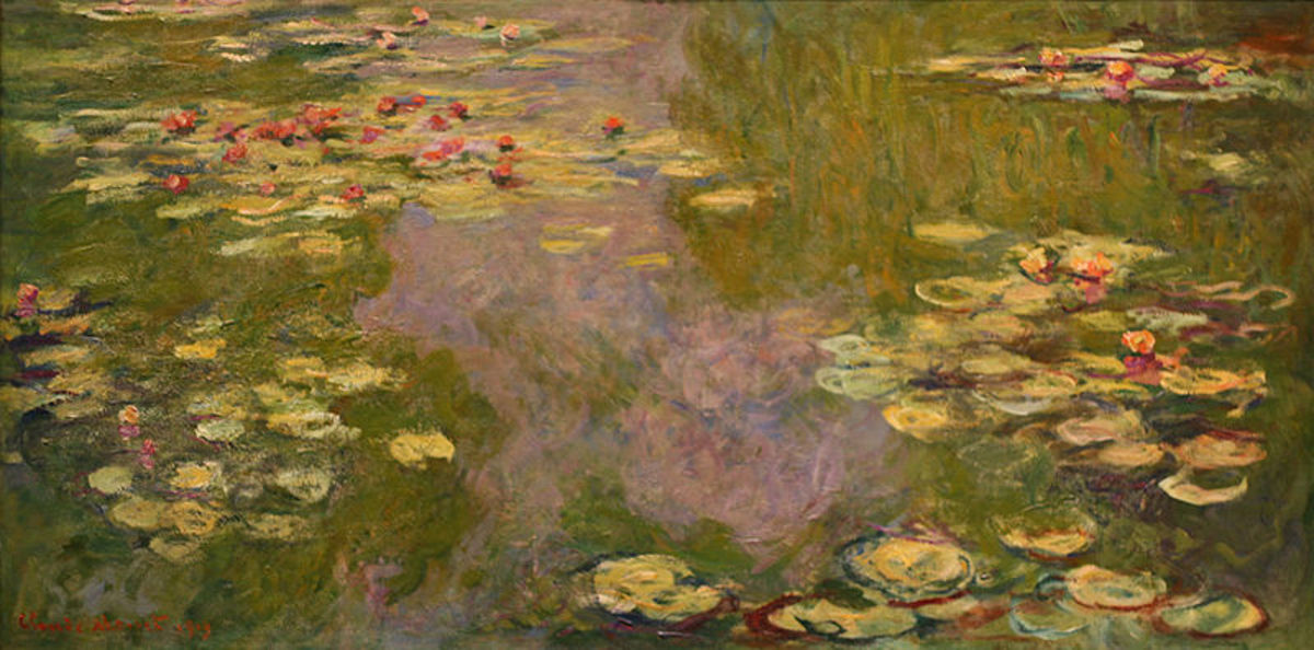 Monet's various water lily paintings can be viewed in the Orangerie Mueum, Marmottan Museum, and the Orsay Museum in Paris.