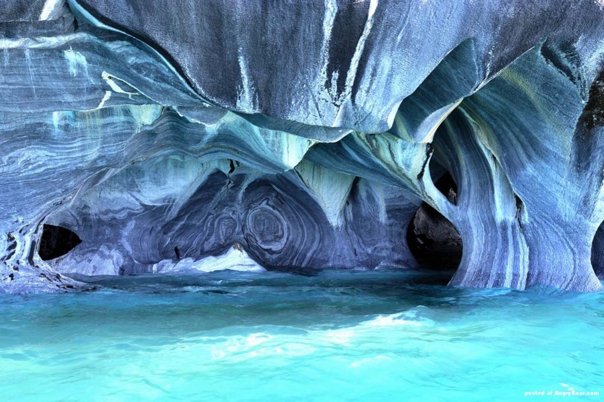 Marble cave in Patagonia, Chile is one of the most beautiful among its kind in the world.