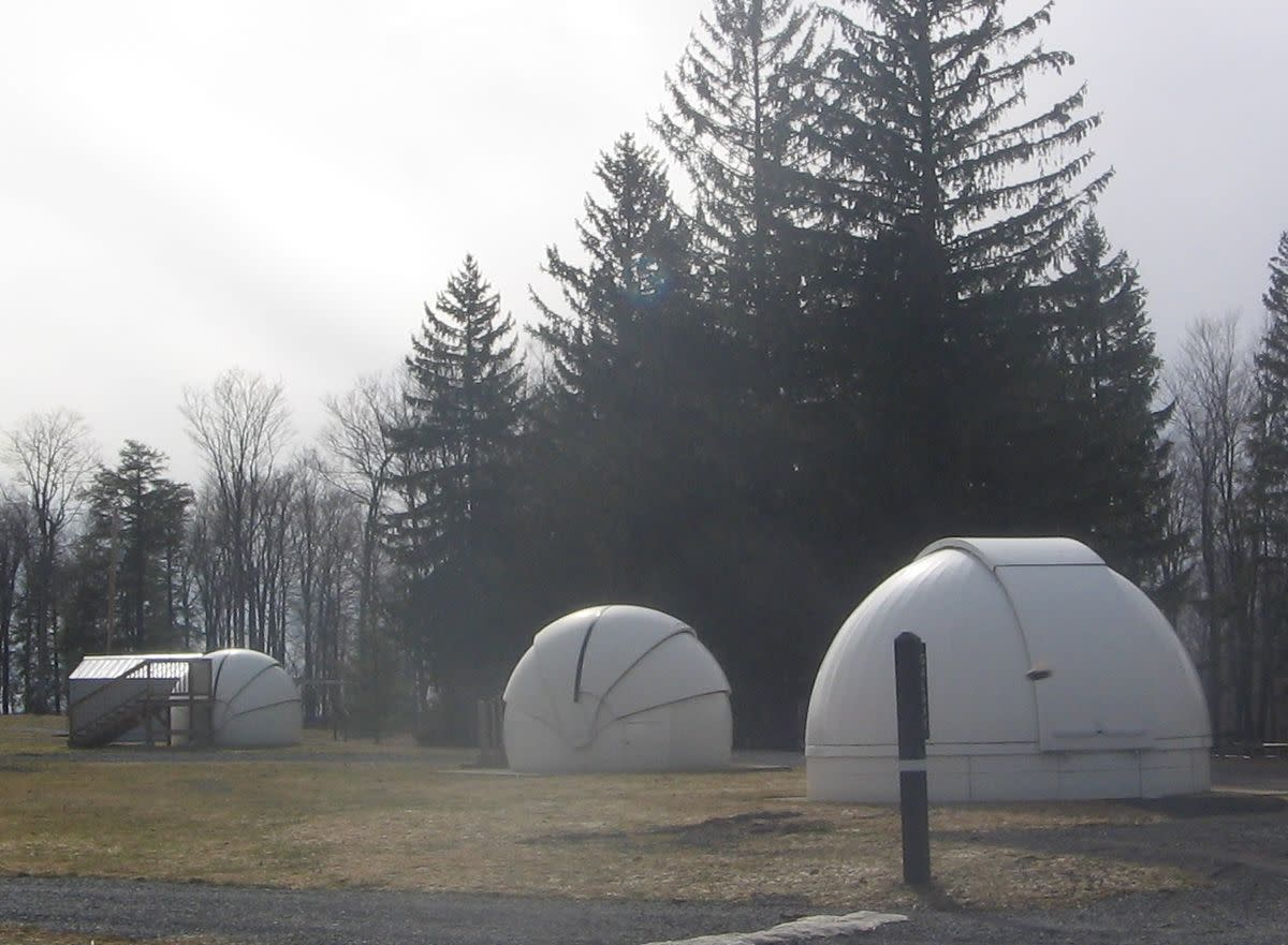 Observatories are for rent in the park's astronomy field.