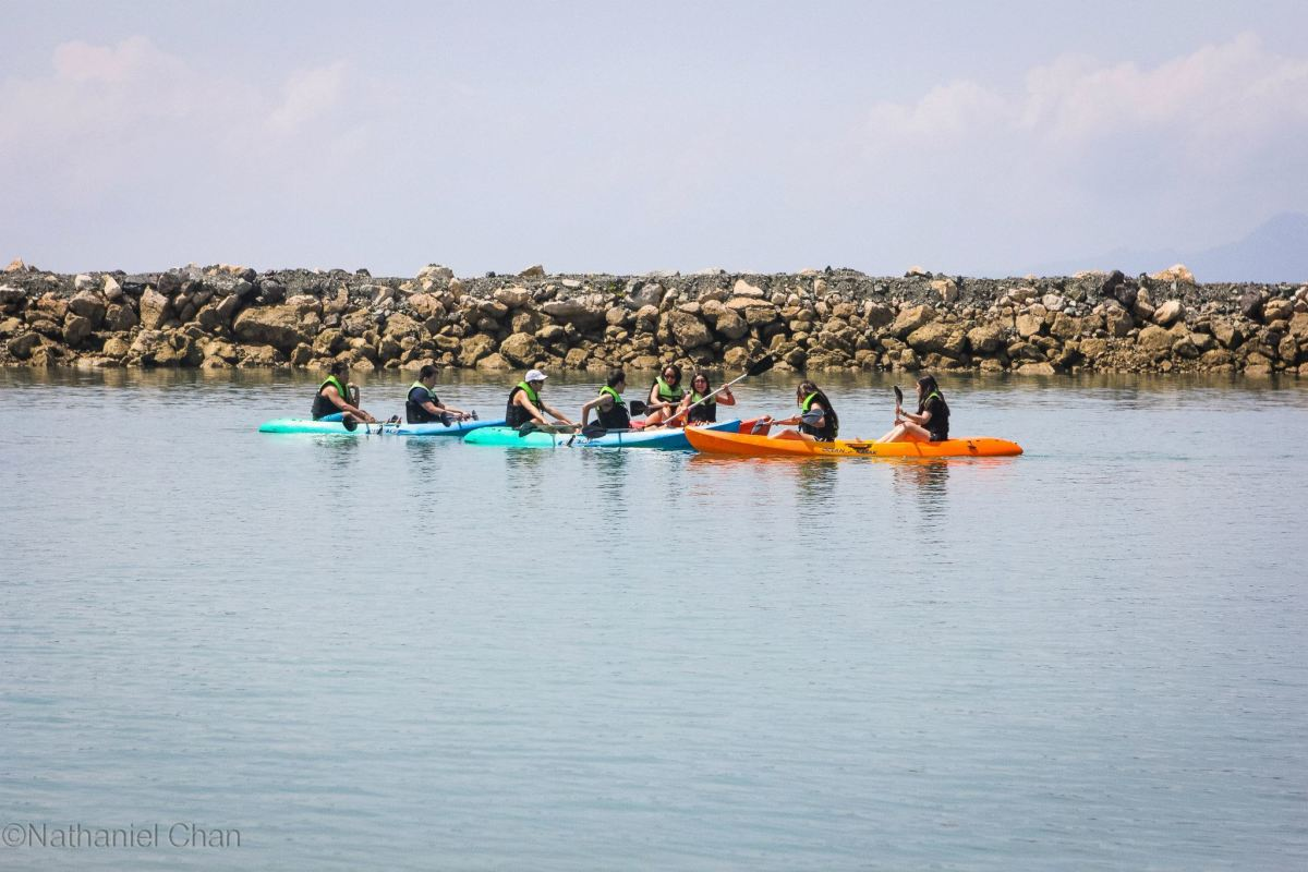 Kayaking on the beach of Misibis