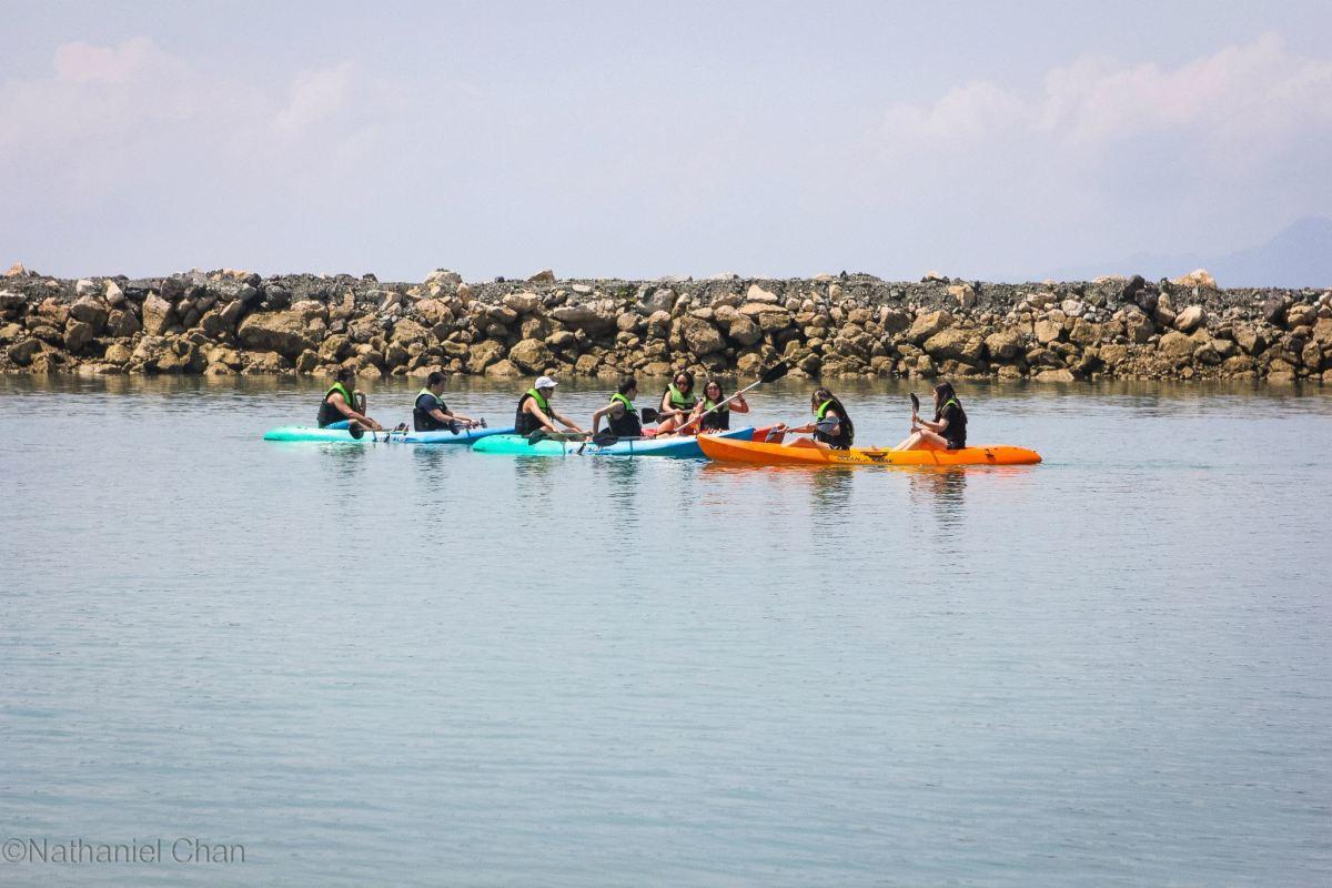 Kayaking on the beach of Misibis