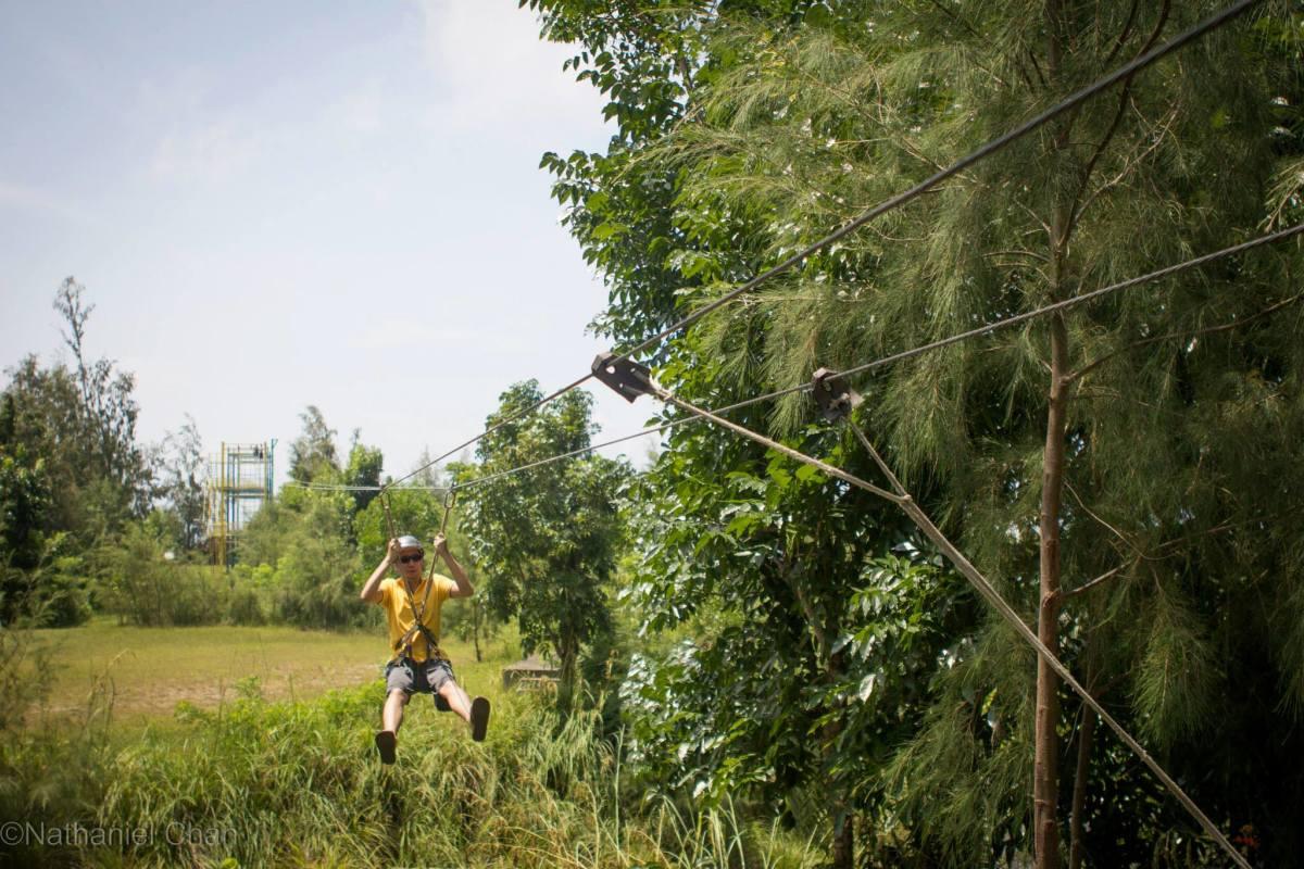 Brief Zipline in Misibis Bay Resort