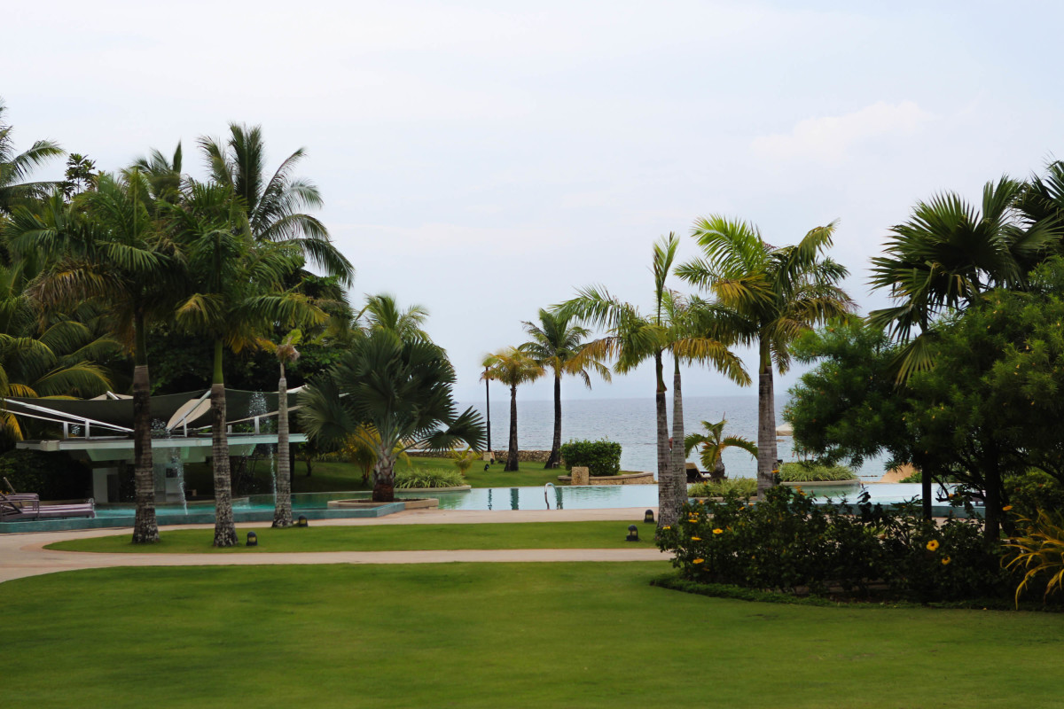 Here's a great view from the reception area of Misibis Bay Resort