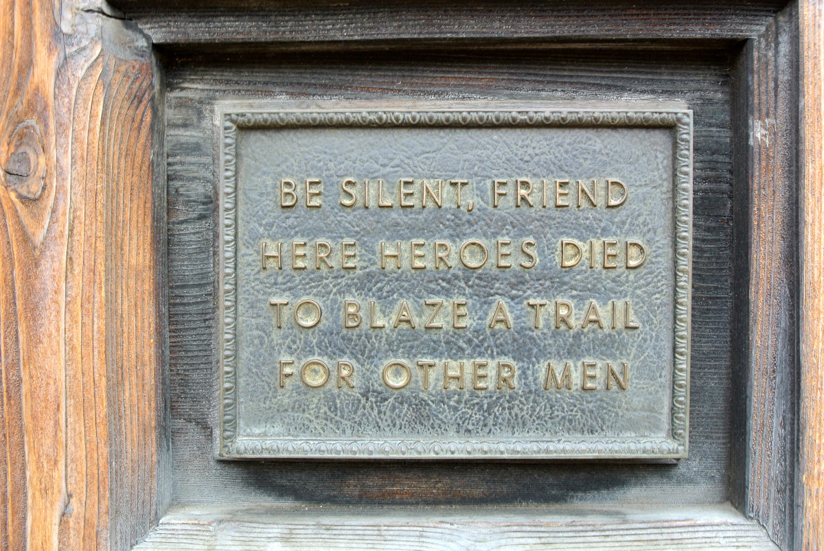 Be silent and respectful when entering The Alamo