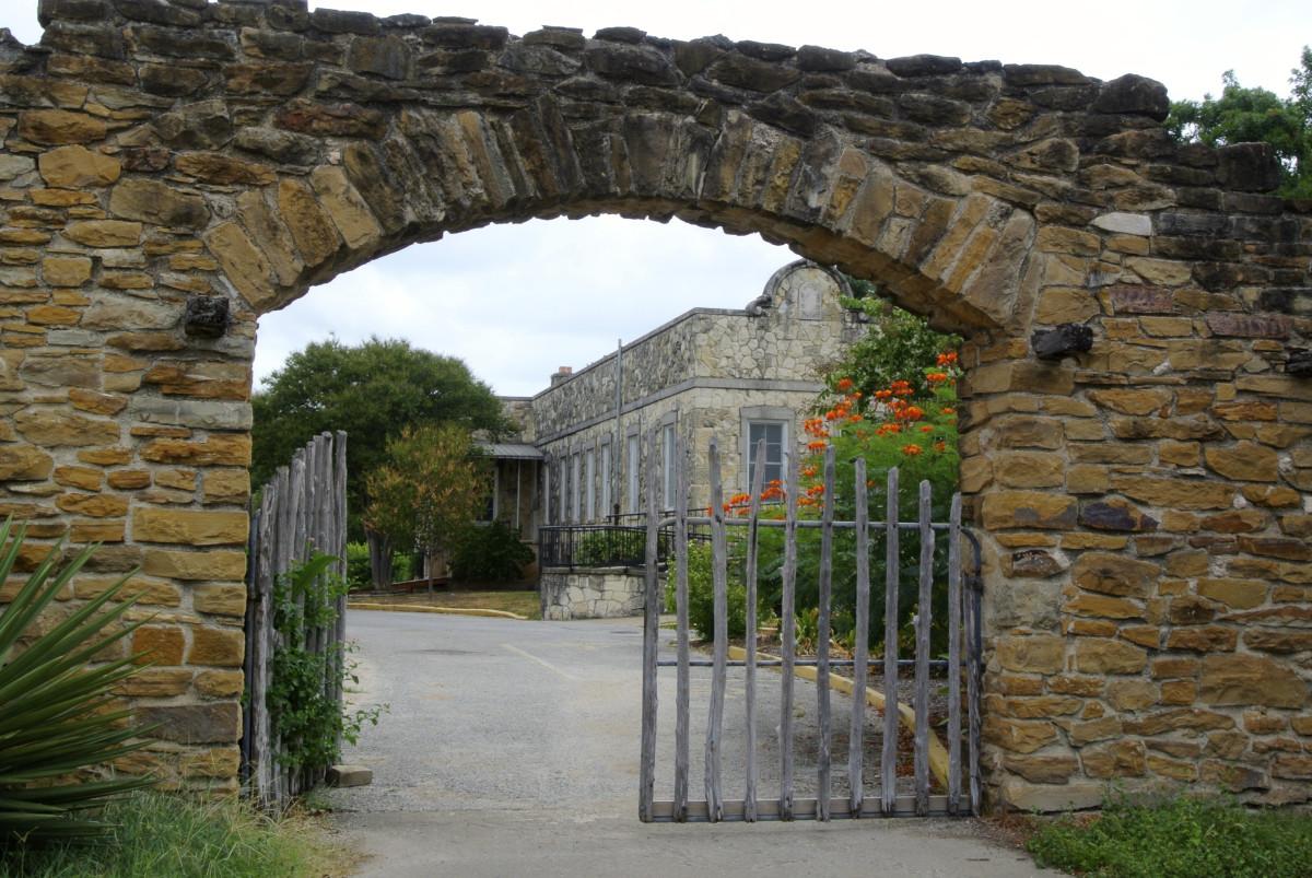 A gate at the San José Mission in San Antonio, Texas