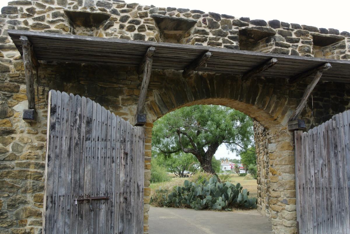 Entrance to the Mission San José in San Antonio, Texas
