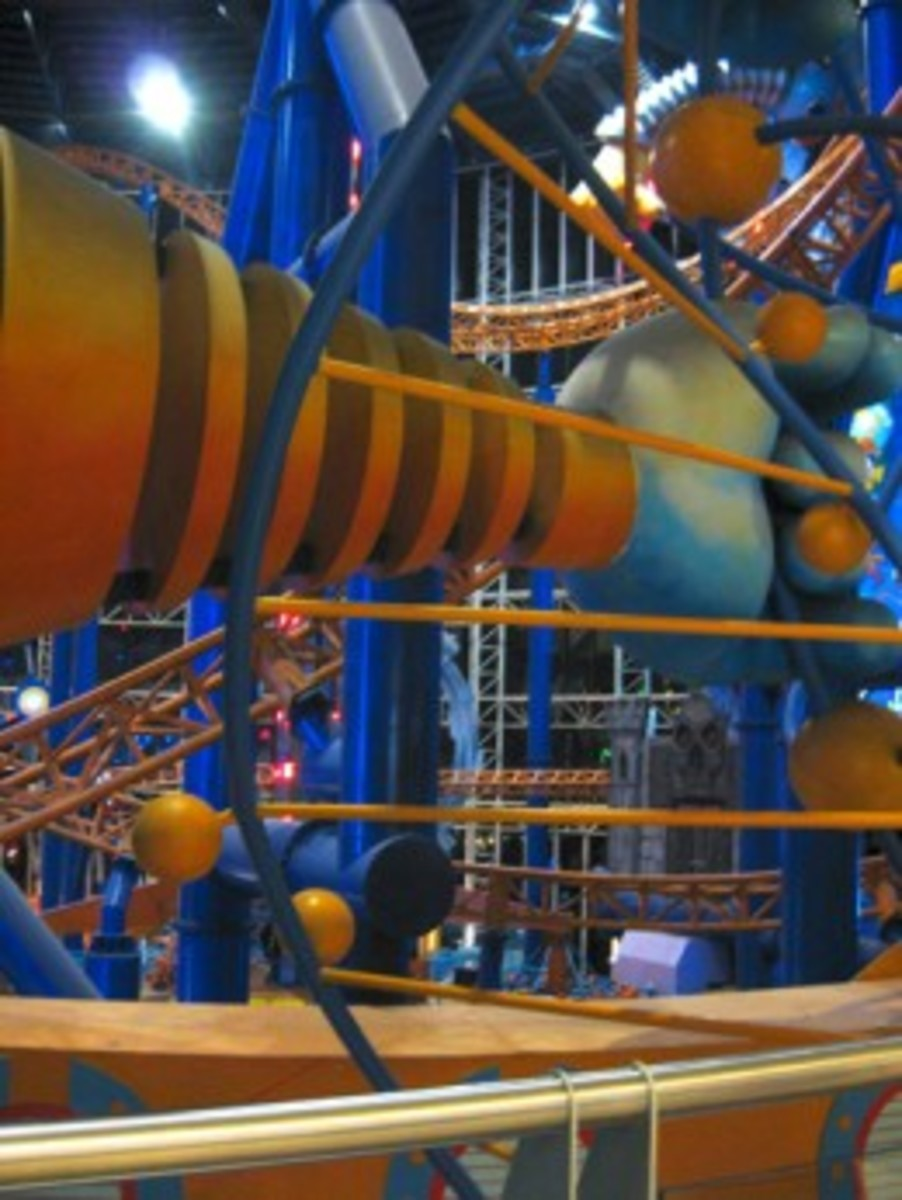 The rollercoaster in Berjaya Times Square.