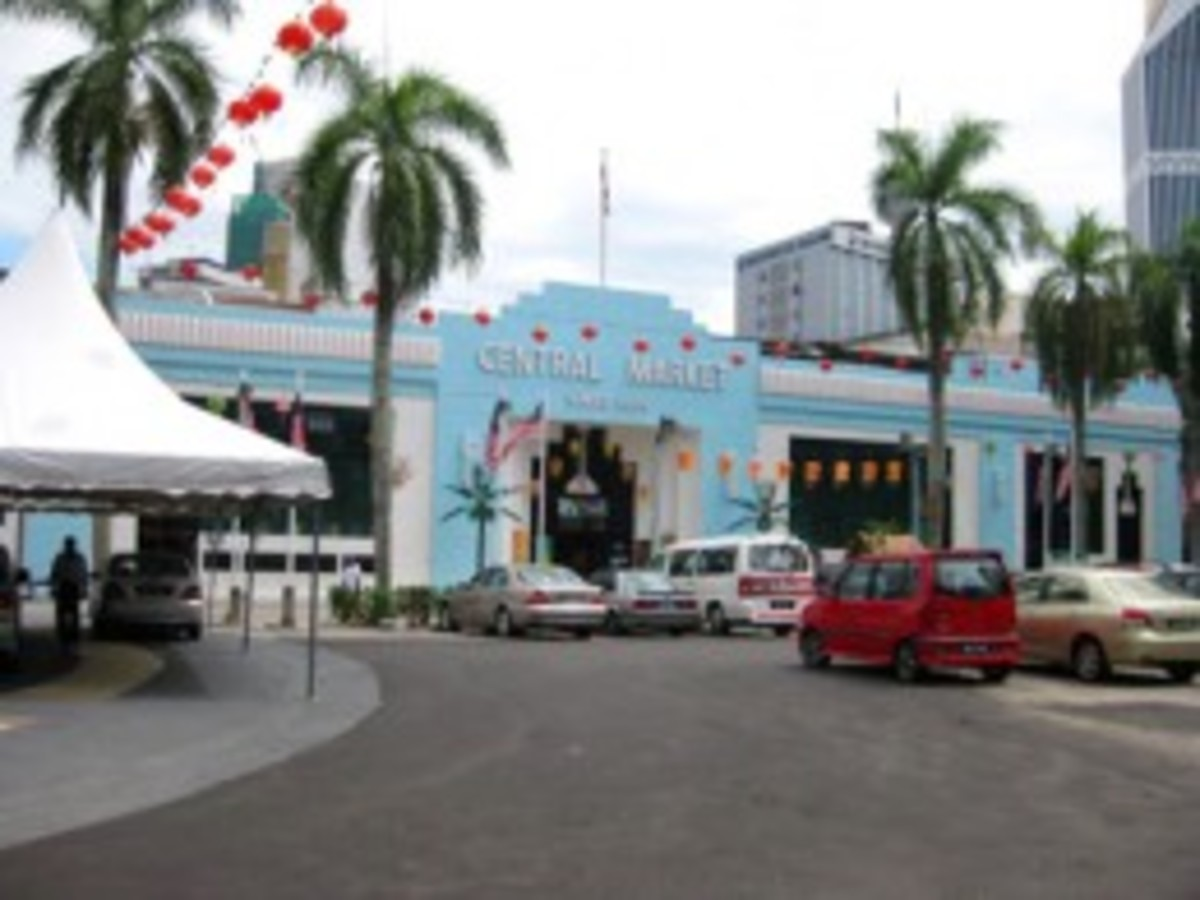 Central Market in Chinatown, Kuala Lumpur. Handcrafters beware - you'll want to buy everything!