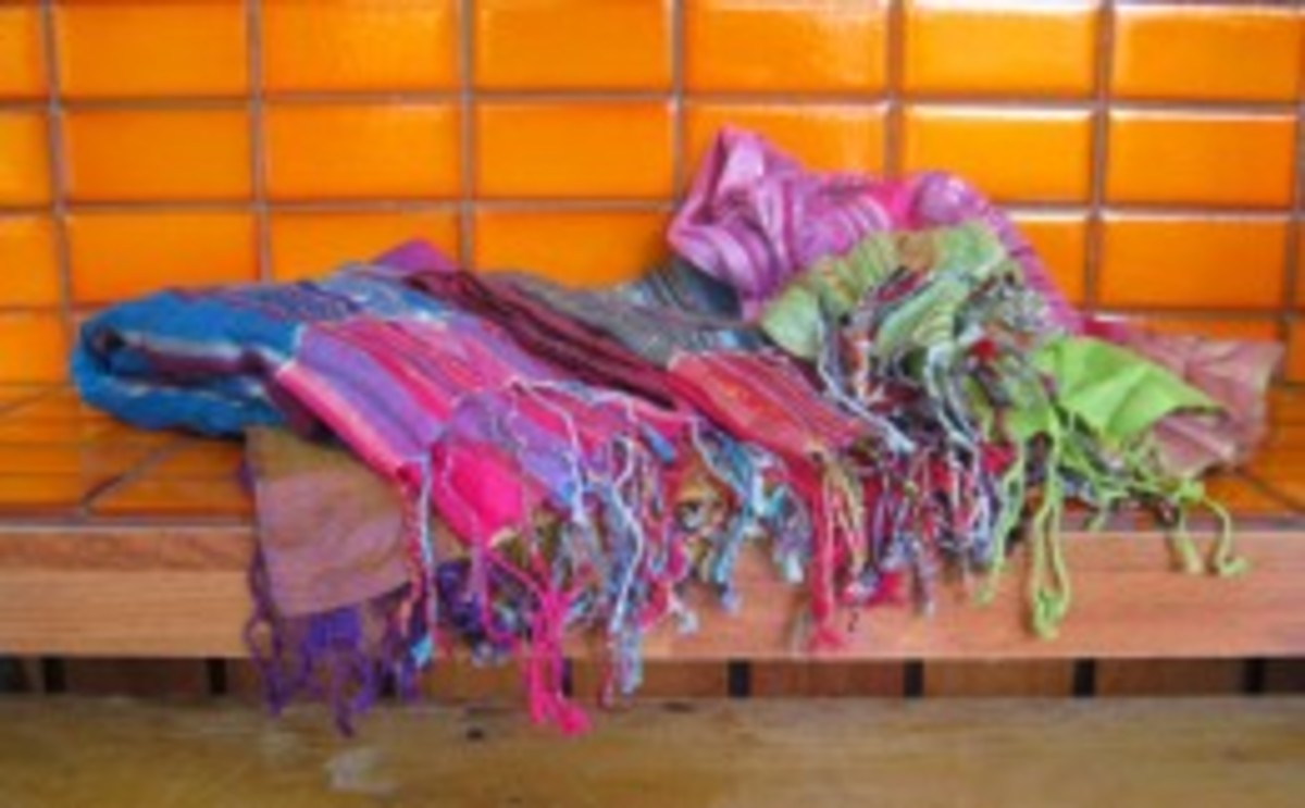 The scarves Kmart doesn't want you to know about - only AU$2 in Little India, Malaysia.