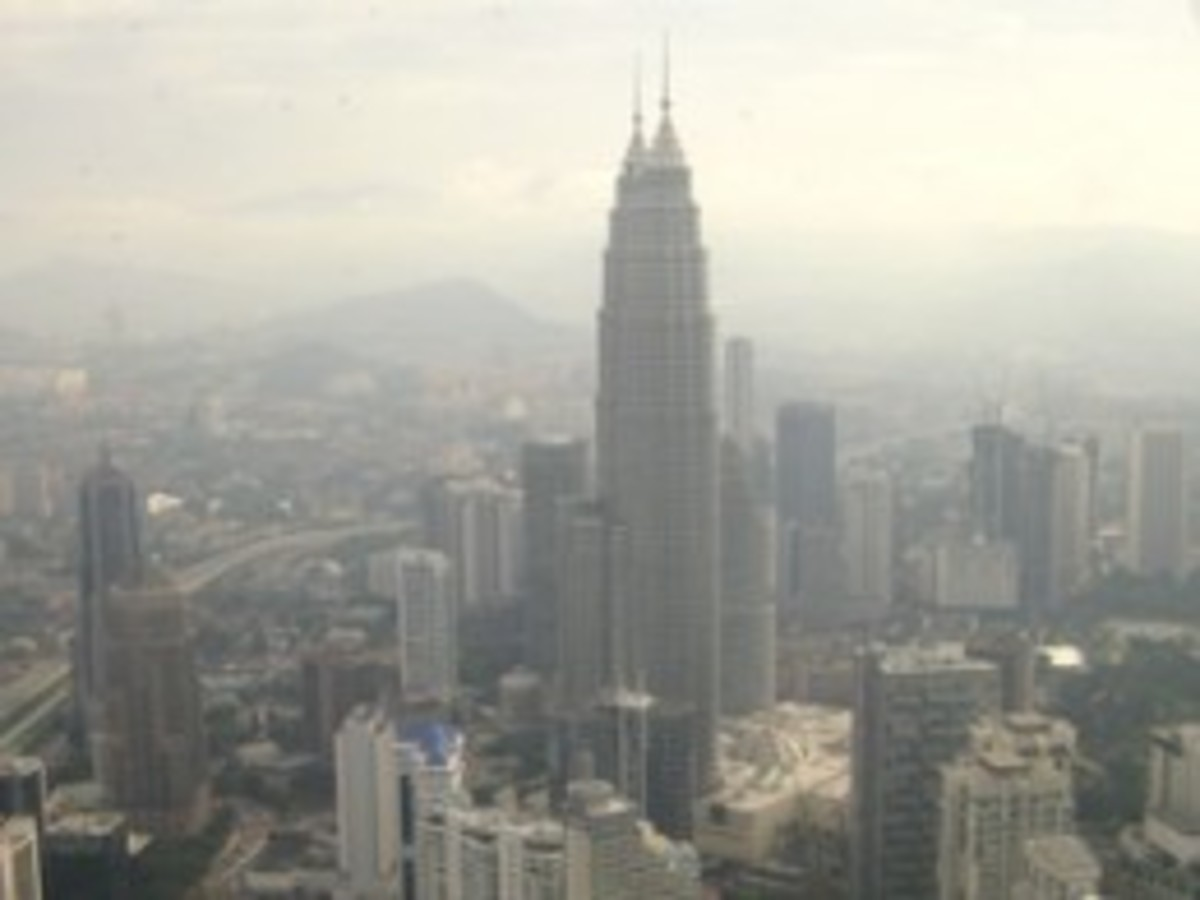 Petronas Twin Towers as seen from the Menara Tower.