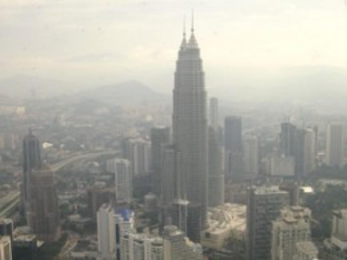 Petronas Twin Towers as seen from the Menara Tower.