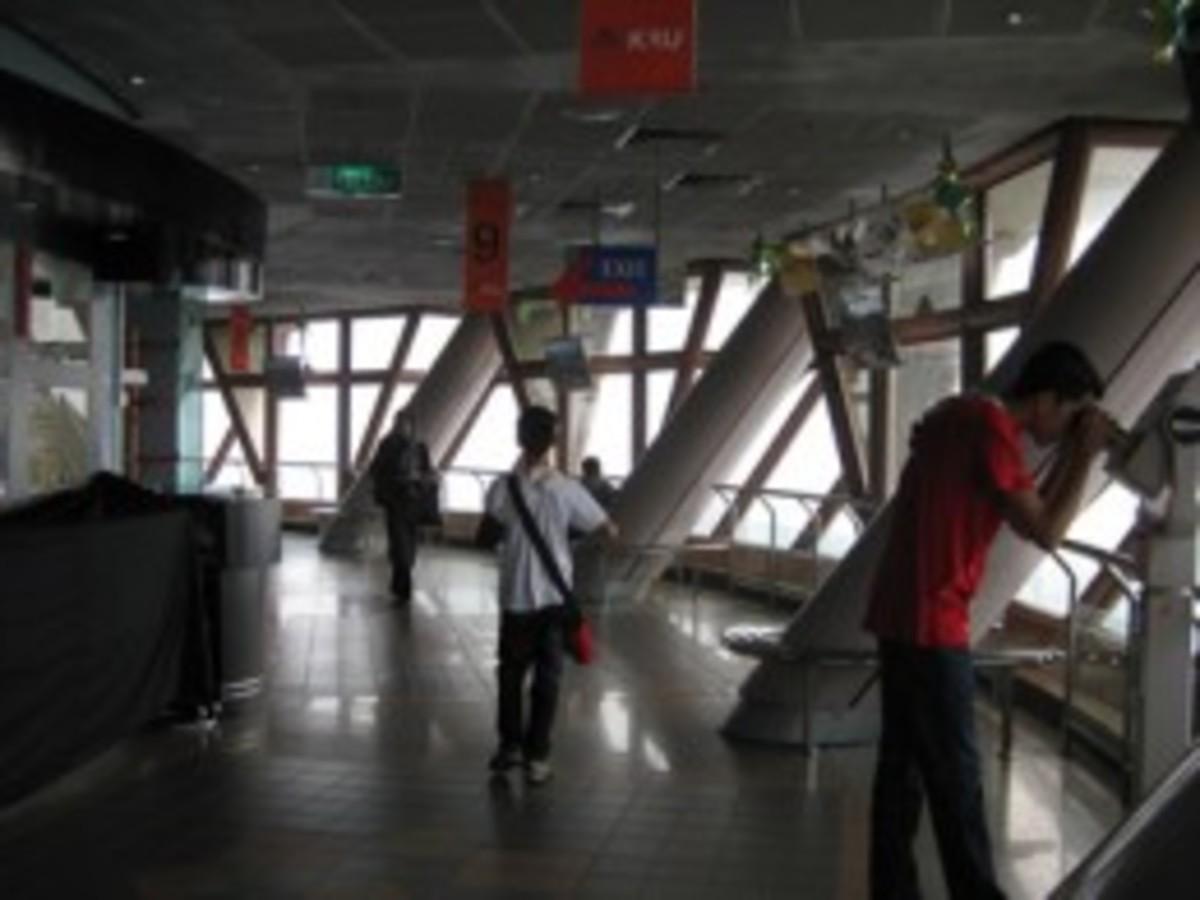 Observation deck at the Menara, Kuala Lumpur.